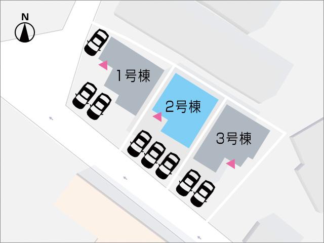 駐車場は並列で3台駐車ができます!北九州市小倉南区葛原東|並列3台駐車可能、リビング広々20帖以上!