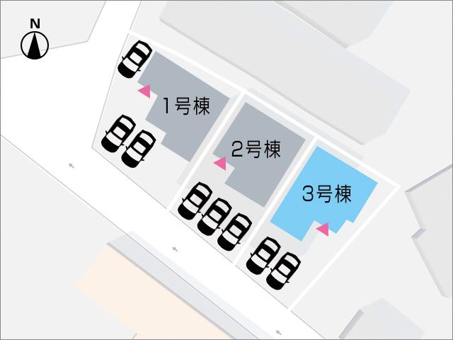 並列で2台駐車可能です!北九州市小倉南区葛原東|17帖以上の広々リビング、バルコニー2箇所あり