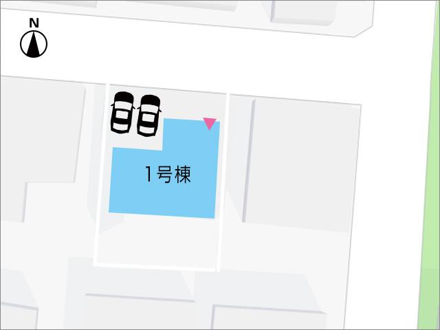 駐車場は、並列2台分駐車が可能です。北九州市小倉北区黒住町|リビングはなんとひろびろ18帖あります!