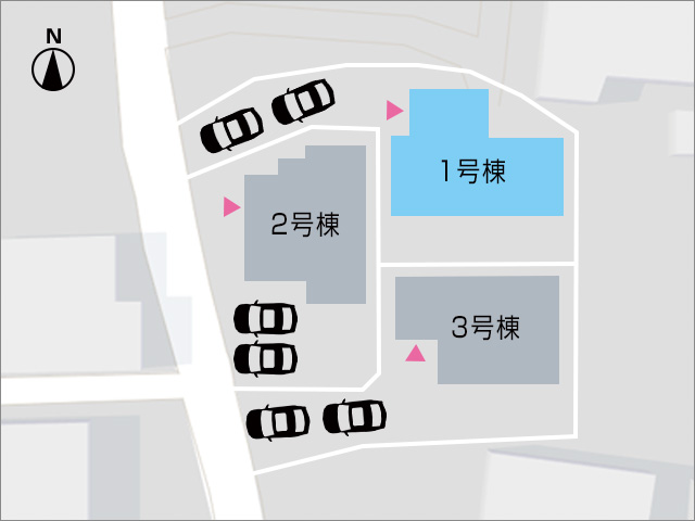 専用庭あり!複数台縦列駐車可能。北九州市小倉南区葛原本町|各個人部屋の音が気にならない独立個室!