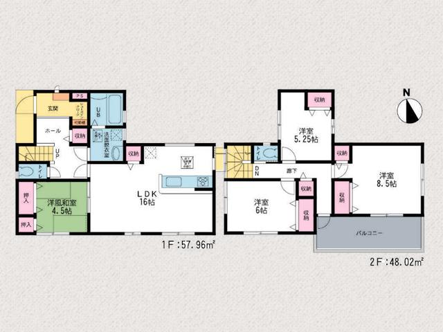 廊下から出入り可能なバルコニーです北九州市小倉南区葛原本町|各個人部屋の音が気にならない独立個室!