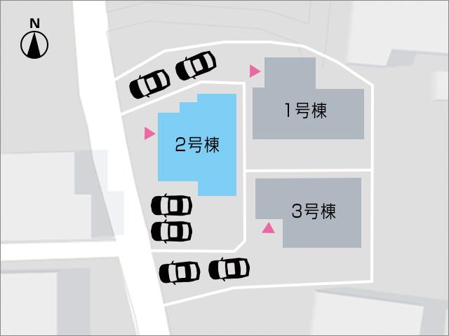 並列2台駐車可能です!北九州市小倉南区葛原本町|共有部専用バルコニー有り