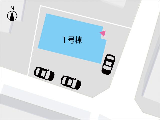 駐車場も広く、専用庭スペースも広々です!北九州市小倉南区中曽根東|駐車場は3台分スペース確保!