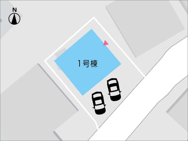 前面2台駐車可能!車種によっては複数台可?北九州市小倉南区横代北町|リビング隣にある便利な独立キッチン。