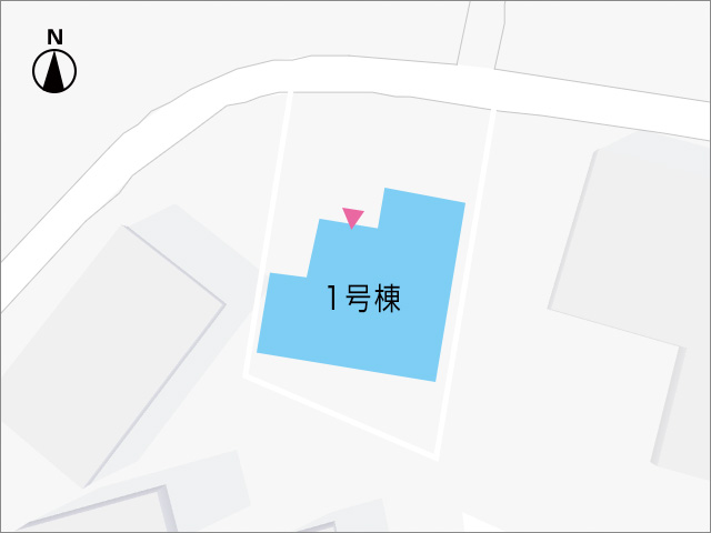 200m²以上の広々とした土地です。北九州市小倉南区中吉田|キッチンは玄関そばで買い出し後に便利