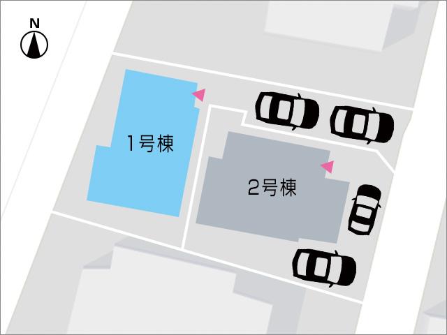 縦列2台分の駐車場で脇道から入れるので駐車し易い!北九州市小倉北区下富野|北区・南区・門司区それぞれにアクセス良好!