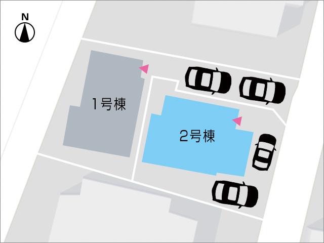 駐車場スペースは2台分あります北九州市小倉北区下富野|17城野広々リビング!バルコニーは2箇所あり