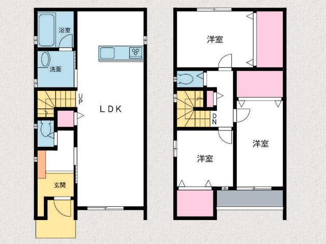 1階リビングのみの3LDK物件です北九州市八幡西区永犬丸西町|3LDKでリビング広々。収納もたっぷりあります!