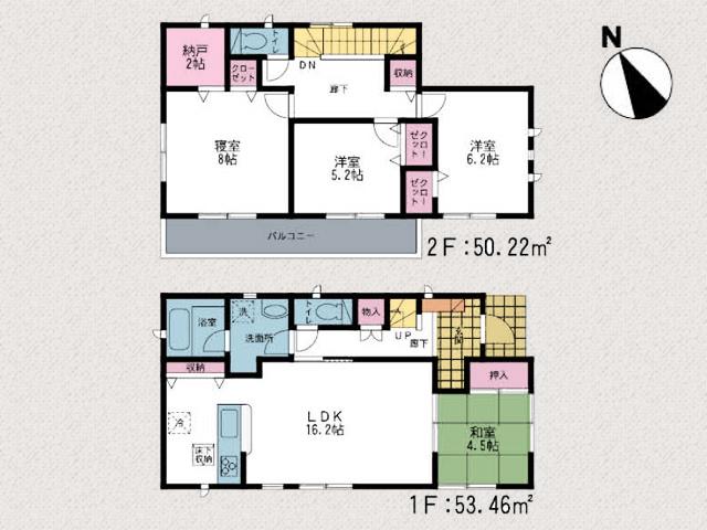 間取り北九州市小倉北区大畠|豊富な収納スペースで部屋が広々使えます!