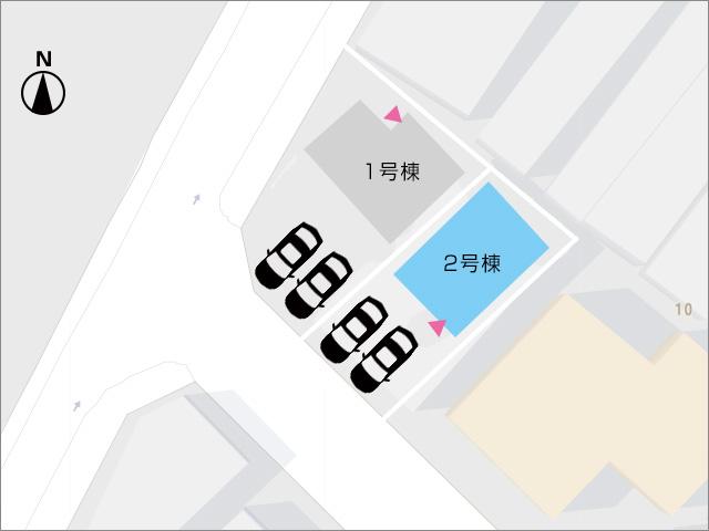 区画図北九州市若松区栄盛川町 スーパーがすぐとなりで徒歩2分