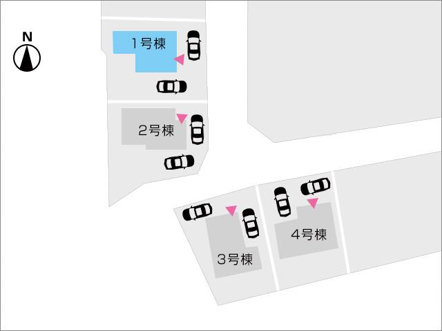 区画図北九州市小倉南区湯川|広くて収納たっぷりの玄関です