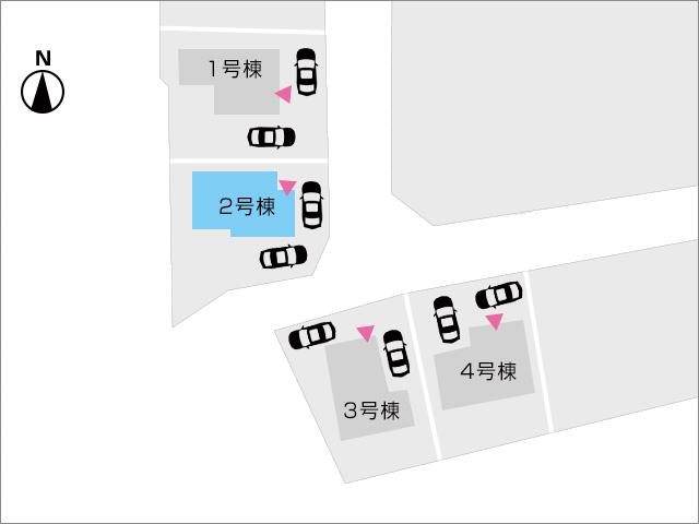 区画図北九州市小倉南区湯川|広々18帖のリビングにテラス付き