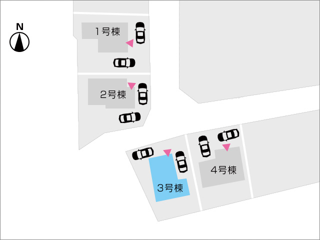 区画図北九州市小倉南区湯川|全室6帖以上のゆとりある空間