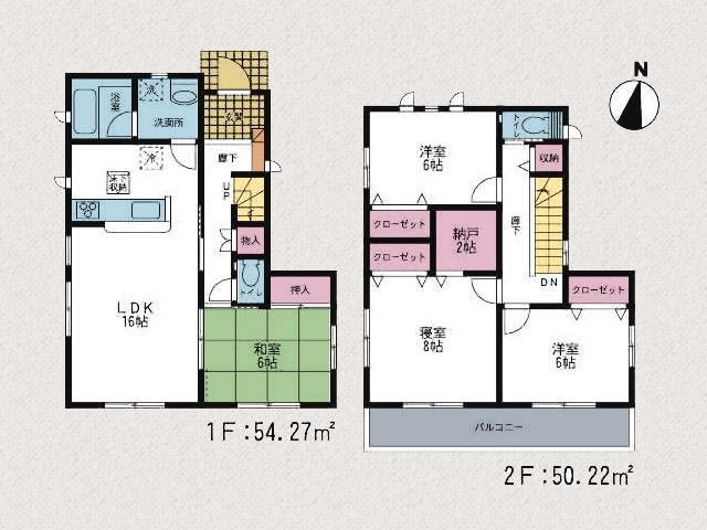 間取り北九州市小倉南区湯川|全室6帖以上のゆとりある空間