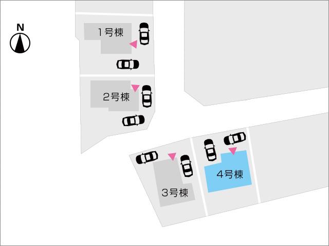 区画図北九州市小倉南区湯川|大きな玄関収納は大きな荷物も置けます