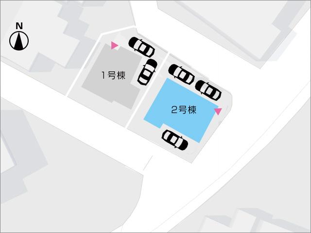 北九州市小倉南区徳吉東|角地で三台駐車可能です
