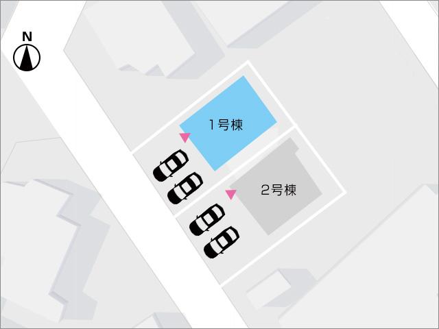 区画図北九州市八幡西区永犬丸南町|収納よりも部屋のスペースを広く