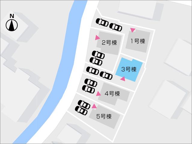 奥の区画ですが広いバルコニーがあり日当り良好です。北九州市小倉南区湯川|全室洋室で2階には4部屋あり
