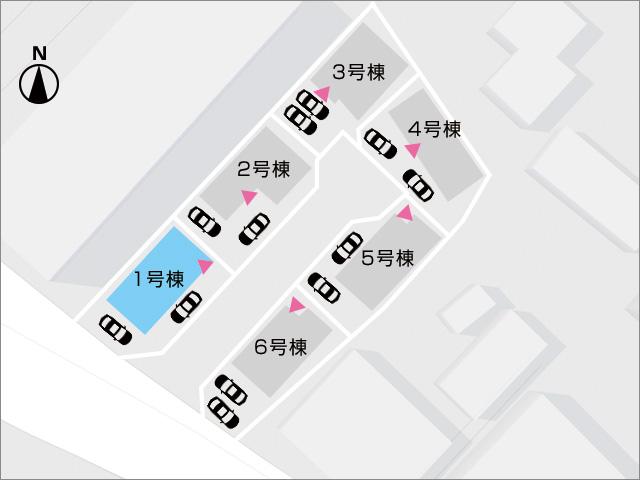 区画図北九州市小倉南区中吉田|広いベッドルームが夫婦部屋に嬉しいサイズ