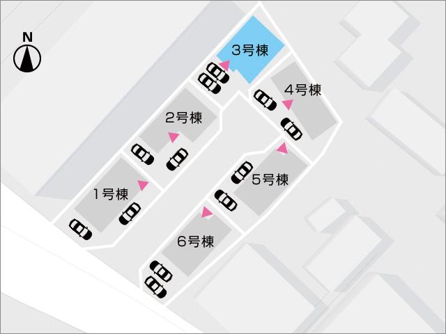 区画図北九州市小倉南区中吉田|3兄弟におすすめ!2階に4部屋洋室あり!