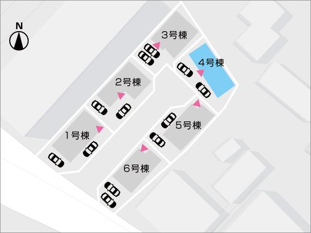 区画図北九州市小倉南区中吉田|各部屋広々!大きめクローゼット