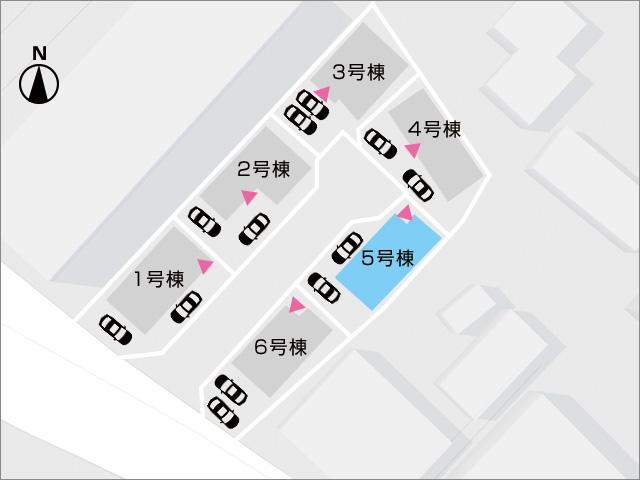 区画図北九州市小倉南区中吉田|リビングに襖なしのタタミコーナーあり