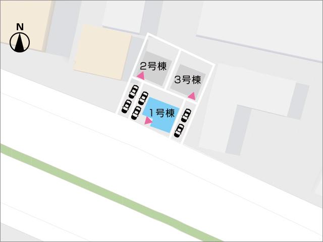 区画図北九州市八幡西区力丸町 明るく開放感のあるリビングダイニング!