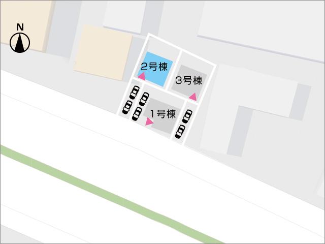 区画図北九州市八幡西区力丸町|使わない物など収納できる2帖の納戸付!