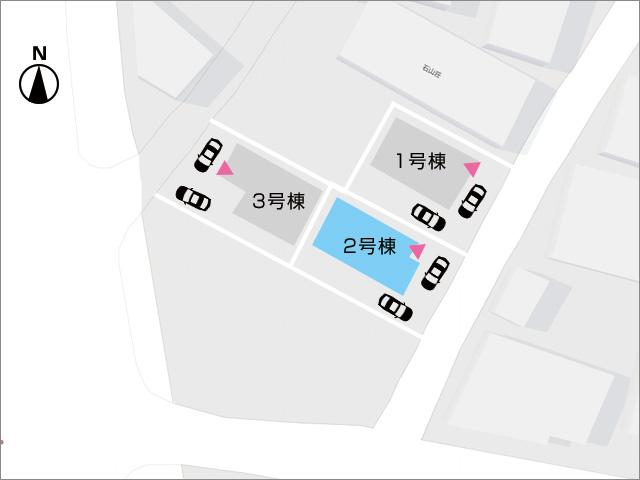 区画図北九州市小倉北区大畠|豊富な収納スペースで部屋が広々使えます!