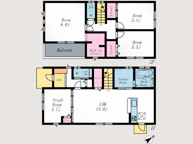 階段下を収納にしてスペースを有効活用!北九州市門司区柳原町|家族のコミュニケーションを意識した造り