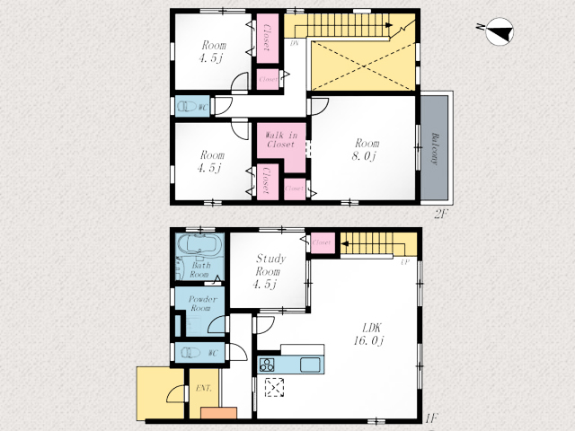 玄関からすぐにキッチンへ移動可能!北九州市小倉南区南方|リビングに吹き抜けのある空間