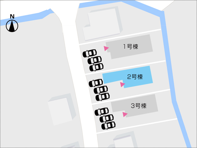 区画図行橋市西泉|ベッドルーム10帖分・WICつき!駐車場三台分!