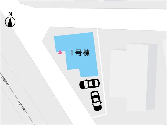 区画図北九州市小倉北区東篠崎|カウンターキッチンで様子を見ながら料理