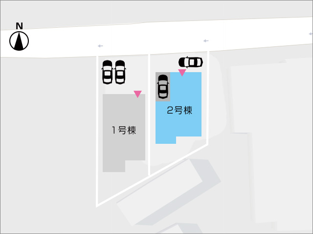 区画図北九州市八幡東区西丸山町|なんと1台分の車庫が付いています