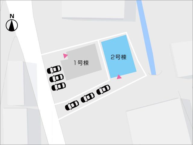 区画図北九州市小倉北区下富野 バルコニースペース大