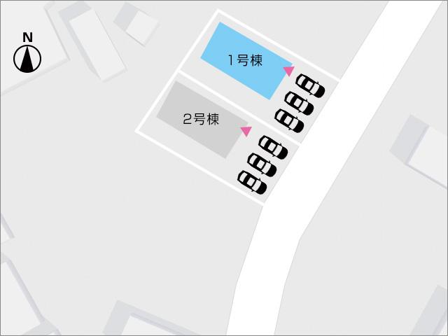 正面並列3台駐車可能!来客時も安心スペース。北九州市小倉南区葛原|サンリブシティが近い!並列3台駐車可能
