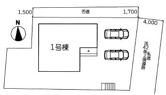 区画図【完成済】八幡東区祇園原町| 駐車3~4台可【花尾小・花尾中】