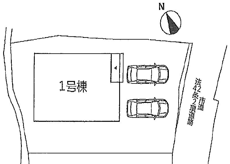 配置図八幡東区中尾3丁目| 東区で激安新築戸建です【高槻小・槻田中】