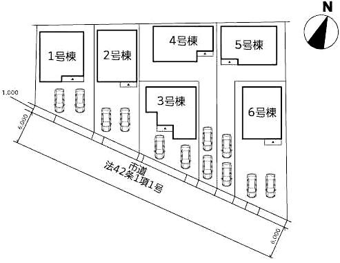配置図八幡西区木屋瀬2丁目4号棟|新木屋瀬駅より徒歩5分です