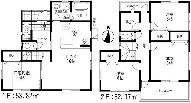 各部屋2面光彩になっており日当り良好です。北九州市小倉南区八幡町|一棟のみ、完成済み!!