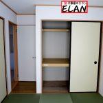 和室押し入れ福岡県直方市植木【2号棟】3帖納戸あり✨収納も充実しています❤