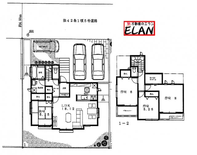 福岡県北九州市小倉南区山手【1号棟】3台分駐車が可能です❗❗収納も充実❗バルコニー2箇所あり