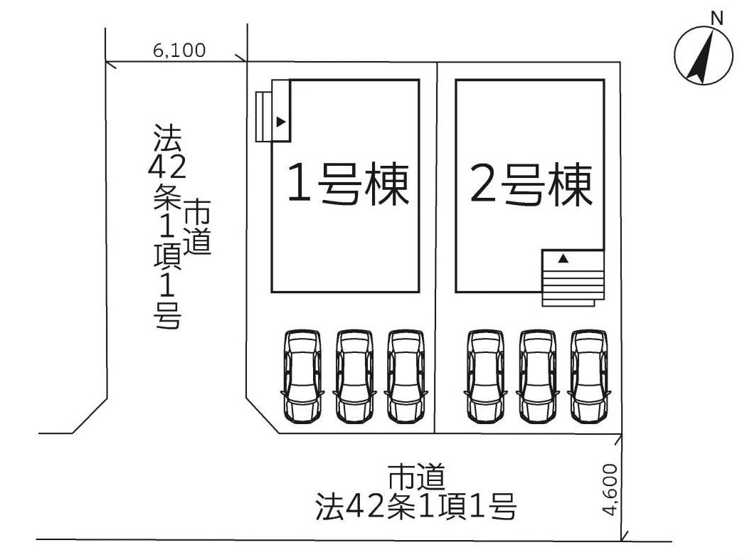 福岡県北九州市八幡西区三つ頭【1号棟】3台駐車可能の角地物件です❗❗収納も充実🌟